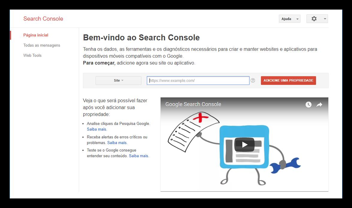 102b32667c98d Na URL deve ter o http e o www, por isso sugerimos que você copie o link do  seu site da forma como ele aparece na barra do seu navegador.